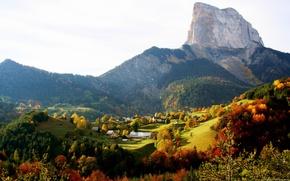 Обои сельских, Осенью, горных