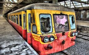Обои Вокзал, Поезд, Перон, разруха