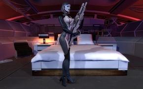 Картинка mass effect, EDI, Sniper rifle, Dr. Eva