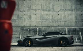 Картинка Ferrari, Miami, Side, Gothic, Supercar, Berlinetta, F12, Wheels, Brake