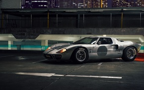 Картинка ночь, supercar, autowalls, Ford GT40