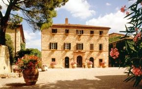 Картинка пейзаж, город, дом, Италия, дворик