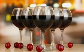 Картинка вино, красное, бокалы, напиток, спиртное