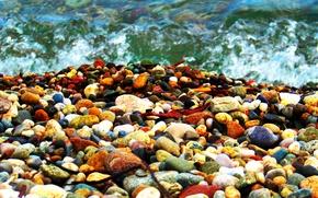 Картинка море, волны, камни, Логинов