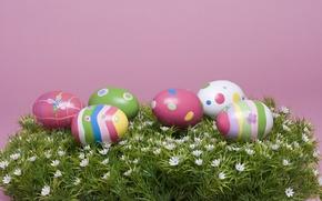 Картинка яйца, пасха, крашенные