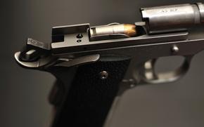 Картинка макро, пистолет, оружие, затвор