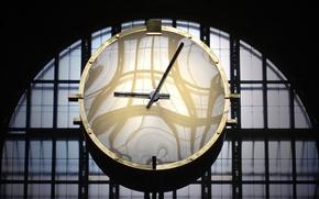 Картинка часы, вокзал, Канада, Торонто, Union Station