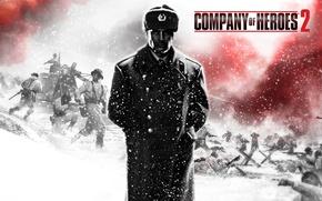 Картинка солдат, Вторая Мировая Война, Company of Heroes 2, шинель