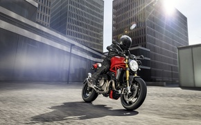 Картинка city, red, Ducati, Monster, moto, road, bike, Legend, classic