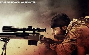 Картинка снайпер, прицел, винтовка, MoH, warfighter