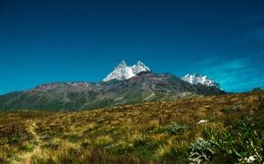 Картинка sky, field, mountain