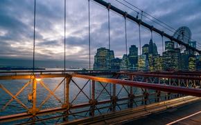 Картинка дома, Нью-Йорк, Бруклинский мост, Манхэттен