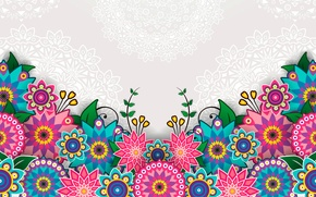 Картинка цветы, яркий, узор