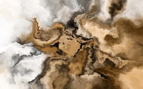 Картинка sky, живопись, кофе, облака, coffee