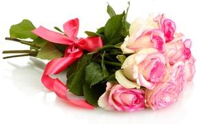 Обои цветы, розы, букет, розовые розы