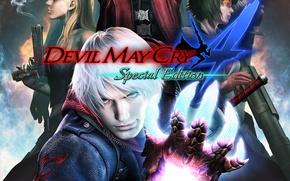 Обои рука, парень, art, Nero, Devil May Cry 4, dmc, Lady, capcom, Mary, Trish, Devil May ...
