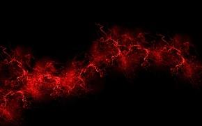 Картинка взрыв, красный, краска, цвет, всплеск, red, черный фон, black