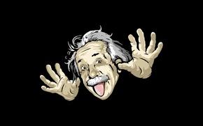 Обои юмор, шарж, Albert Einstein