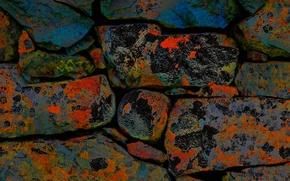 Картинка камни, стена, цвет, кладка