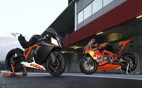 Картинка мотоцикл, red bull, ktm, rc8, rc8r