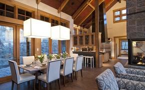 Картинка Switzerland, Villa, Alps, living space