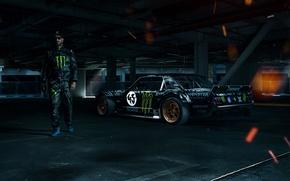 Картинка Mustang, Ford, 1965, RTR, Side, Ken Block, Gymkhana, Racer, Sparks, Hoonicorn, SEVEN, 845 hp
