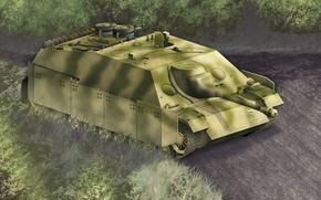 Картинка war, art, painting, tank, ww2, Jagdpanzer IV