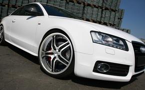 Обои белый, Audi A5, колесо