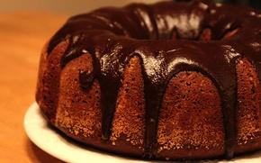 Обои пирог, глазурь, кекс