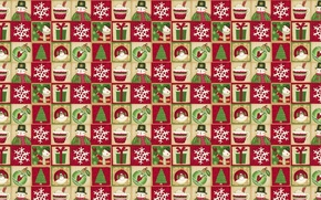 Обои Санта Клаус, праздник, подарок, Новый год