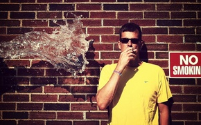 Картинка вода, ситуация, парень, no smoking