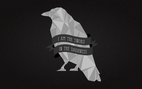 Картинка crow, A Song of Ice and Fire, Game of Thrones, Nights Watch, I Am the …