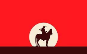 Картинка Красный, Лошадь, Red Dead Redemption, Western