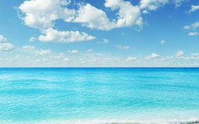 Картинка море, небо, облака