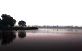 Обои вода, природа, озеро, настроение, тишина