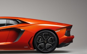 Картинка оранжевый, lamborghini, автомобиль, ламборджини