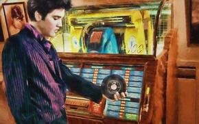 Картинка музыкант, певец, Рок-н-ролл, Элвис Пресли, Elvis Presley, игральный автомат