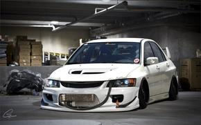 Обои Mitsubishi, Lancer, Evolution, Evil
