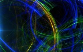 Картинка лучи, свет, линии, узор, цвет, фрактал