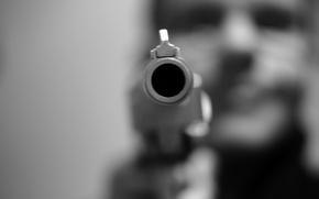 Обои оружие, макро, ствол, пистолет