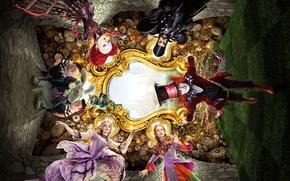 Картинка Johnny Depp, Glass, the, alice, Helena Bonham Carter, Anne Hathaway, time, Year, EXCLUSIVE, Walt Disney …