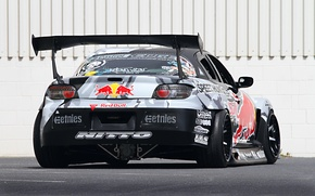 Картинка Mazda, Drift, Tuning, Team, RX-8, Competition, Rims, Widebody, Sportcar, Spoiler, Red-Bull Racing