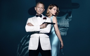 Картинка шпион, 007, spectre, daniel craig, james bond, Lea Seydoux