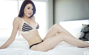 Картинка bed, model, underwear, Lissette Marie