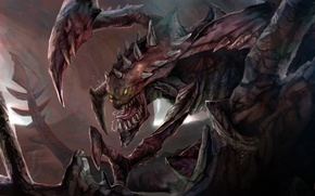Картинка монстр, оскал, League of Legends, Cho'Gath, Terror of the Void