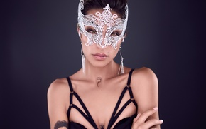 Картинка лицо, модель, маска, Madison