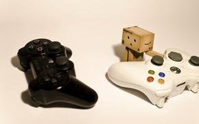 Картинка коробка, Sony, Hi-Tech, PlayStation, джойстики
