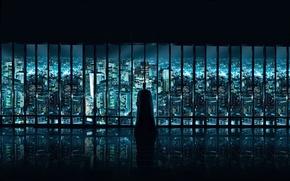 Обои Бэтмен, Окно, город