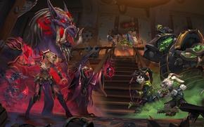 Картинка арт, Кабал, Hearthstone: Heroes of Warcraft, Хартстоун, новое дополнение, new adventure, Злачный город Прибамбасск, Ржавые …