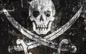 Обои пираты, череп